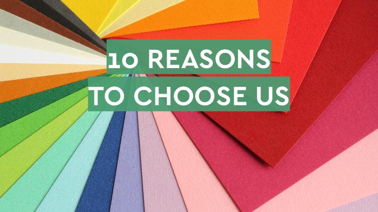 10 REASONS TO CHOOSE US - website